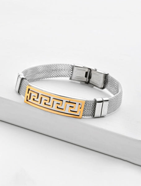Geometric Metal Detail Bracelet - Shop Station EG