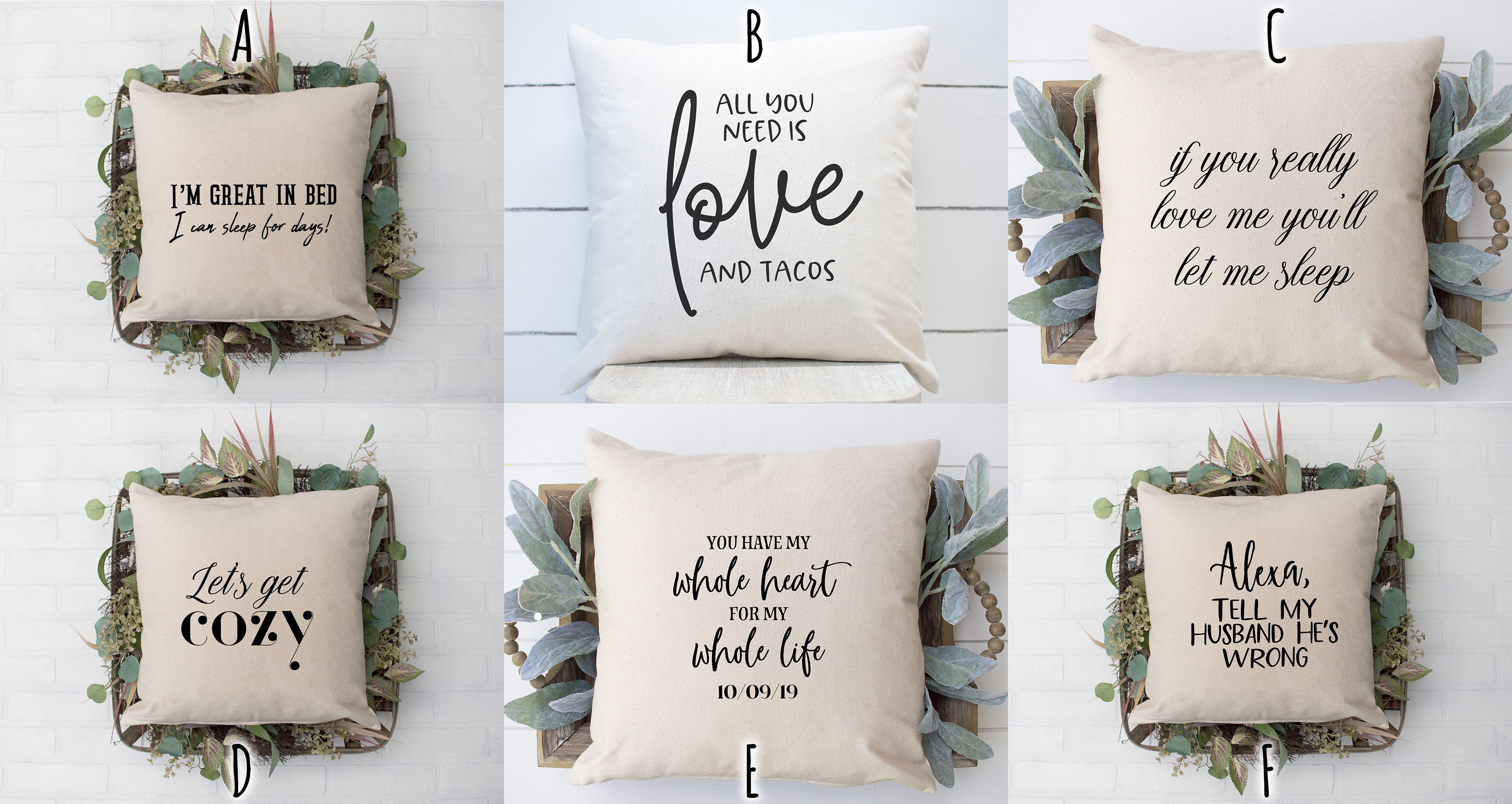 Promo Valentine's Pillows