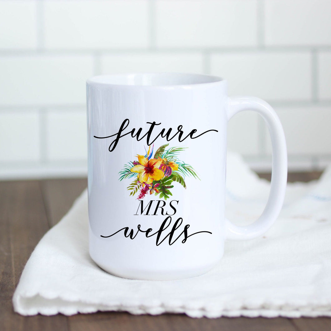 Future Mrs Tropical Floral Mug