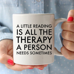 A little reading is all the therapy a person needs sometimes