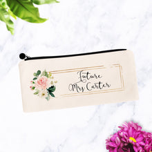 Load image into Gallery viewer, Future Mrs Cosmetic Bag with Custom Name