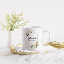 Load image into Gallery viewer, Soft Floral Wreath Custom Bridesmaids Wedding Mug