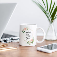 Load image into Gallery viewer, Future Mrs. Mug Soft Pink Florals