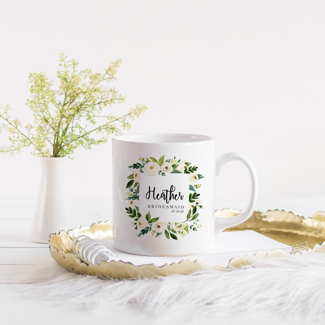 Custom Bridesmaids Name Mug
