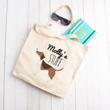 Load image into Gallery viewer, Custom Dog Stuff Tote Bag (Medium Dogs)