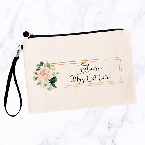 Future Mrs Cosmetic Bag with Custom Name