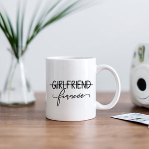 Girlfriend Fiancee Engaged, Engagement Mug