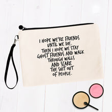 Load image into Gallery viewer, Ghost Friends Best Friends Makeup Bag