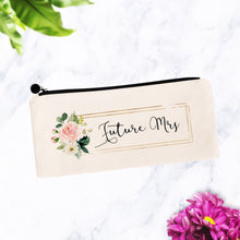 Load image into Gallery viewer, Future Mrs Floral Cosmetic Bag