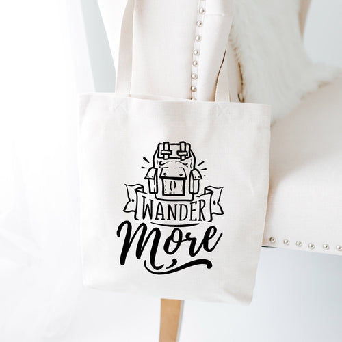 Wander More Tote Bag