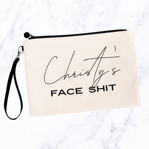 Personalized Face Shit Makeup Bag