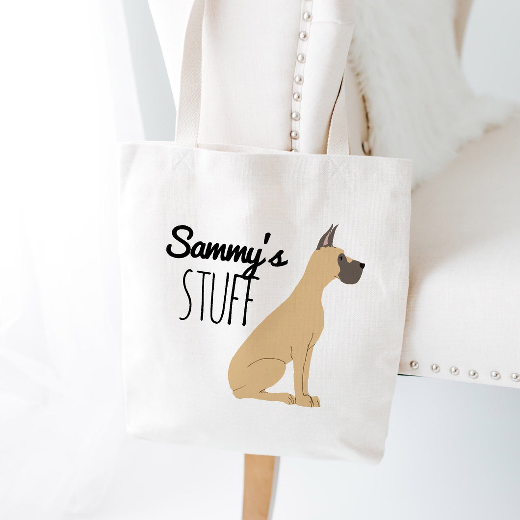 Custom Dog Stuff Tote Bag (Large Dogs)
