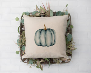 Blue Pumpkin Rustic Farmhouse Decor