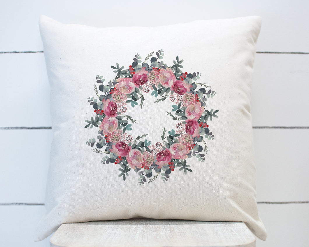 Soft Pink Rose Floral Greenery