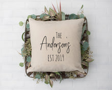 Load image into Gallery viewer, Custom Family Name Pillow Cover
