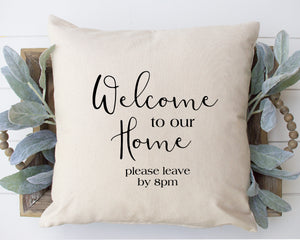 Welcome to our Home Swirly Font