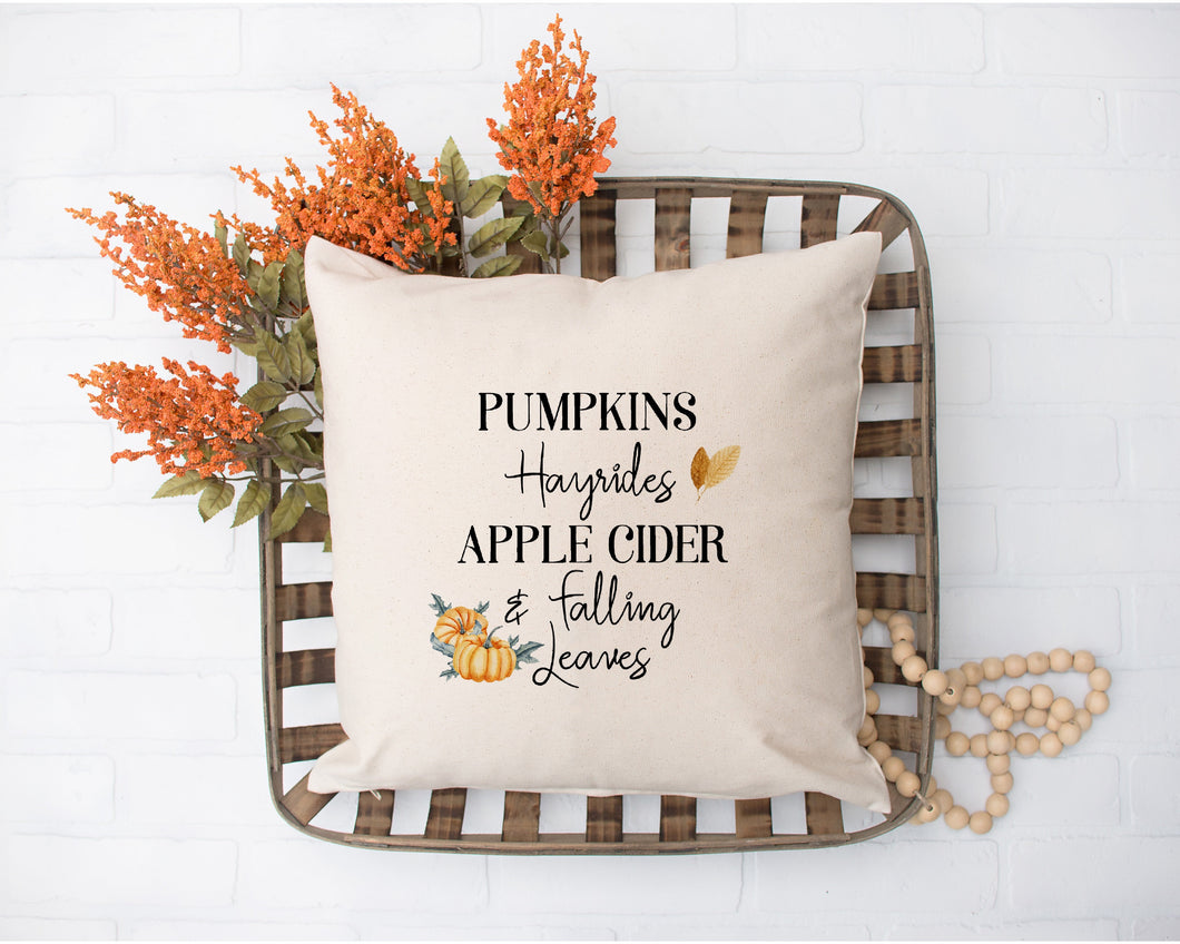 Pumpkins Hayrides Apple Cider Falling Leaves