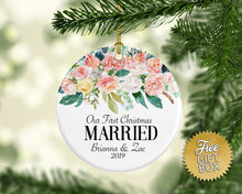 Load image into Gallery viewer, Soft Pink Flowers First Christmas Married