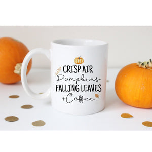 Crisp Air Pumpkins Falling Leaves & Coffee