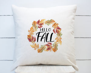 Hello Fall Leaves Wreath