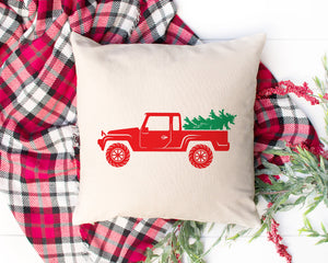 Old Jeep Cute Rustic Christmas Tree