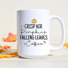 Load image into Gallery viewer, Crisp Air Pumpkins Falling Leaves & Coffee