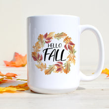 Load image into Gallery viewer, Hello Fall Colorful Leaves Wreath