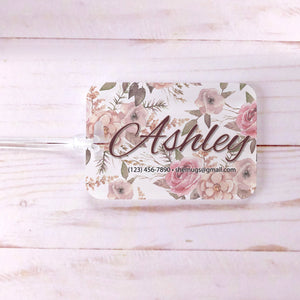 Rustic Floral Bridesmaid Maid of Honor Custom Luggage Tag
