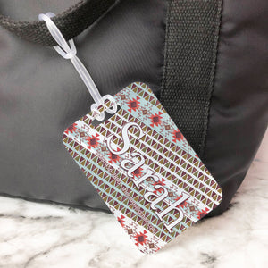 Tribal Bohemian Pattern Custom Luggage Tag