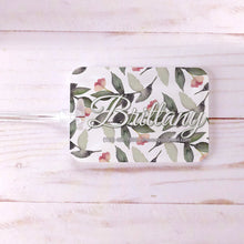 Load image into Gallery viewer, Greenery Airy Floral Bridesmaid Custom Luggage Tag
