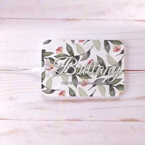 Greenery Airy Floral Bridesmaid Custom Luggage Tag