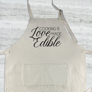 Cooking is Love Made Edible Apron