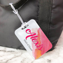 Load image into Gallery viewer, Watercolor Bridesmaid Custom Luggage Tag