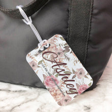 Load image into Gallery viewer, Rustic Floral Bridesmaid Maid of Honor Custom Luggage Tag