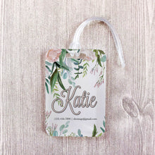 Load image into Gallery viewer, Soft Floral Greenery Bridesmaid Custom Luggage Tag