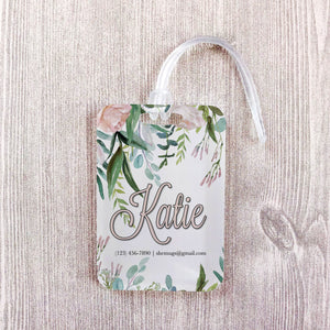 Soft Floral Greenery Bridesmaid Custom Luggage Tag