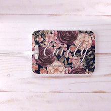Load image into Gallery viewer, Dark Floral Bridesmaids Rustic Custom Luggage Tag