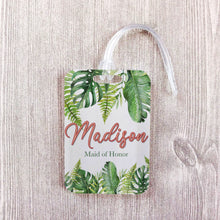 Load image into Gallery viewer, Tropical Vacation Custom Luggage Tag