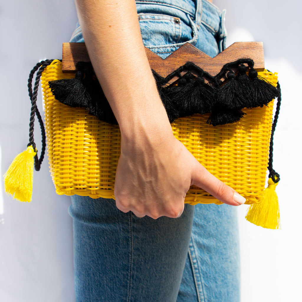 Recycled Yellow Handbag - Sustainable Fashion -  MODE Revolution - Miami