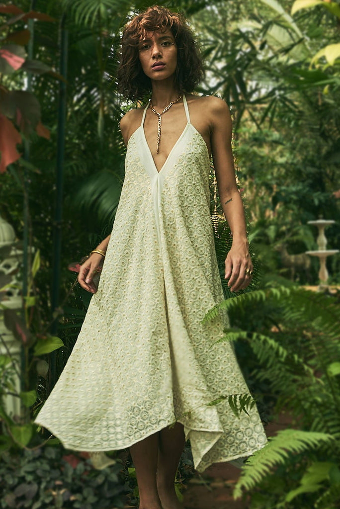 Kashmiri Fields Maxi Dress - dress - MODE Revolution -Sustainable Fashion