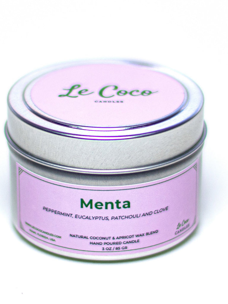 Menta Travel Tin - candle - MODE Revolution -Sustainable Fashion