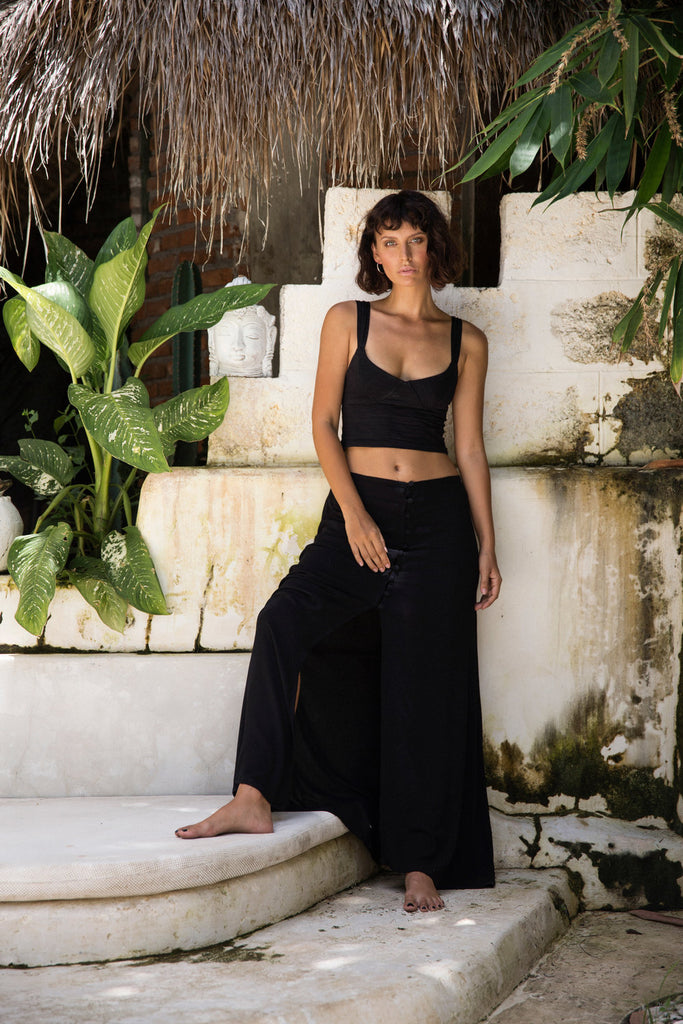 Rosie Crop Top Black -  - MODE Revolution -Sustainable Fashion