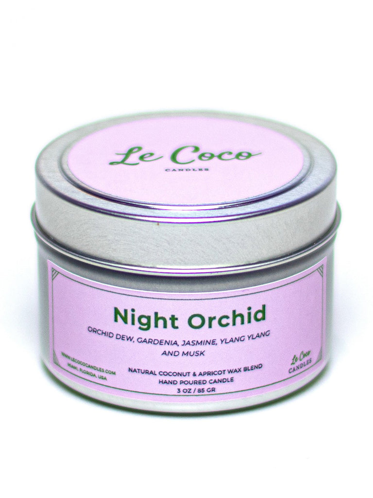 Night Orchid Travel Tin Candle - candle - MODE Revolution -Sustainable Fashion
