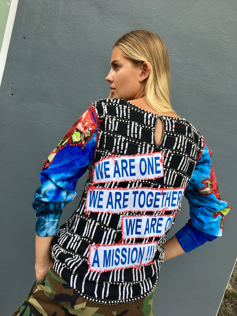 We Are One Beaded Top -  - MODE Revolution -Sustainable Fashion