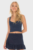Rosie Crop Midnight Blue -  - MODE Revolution -Sustainable Fashion