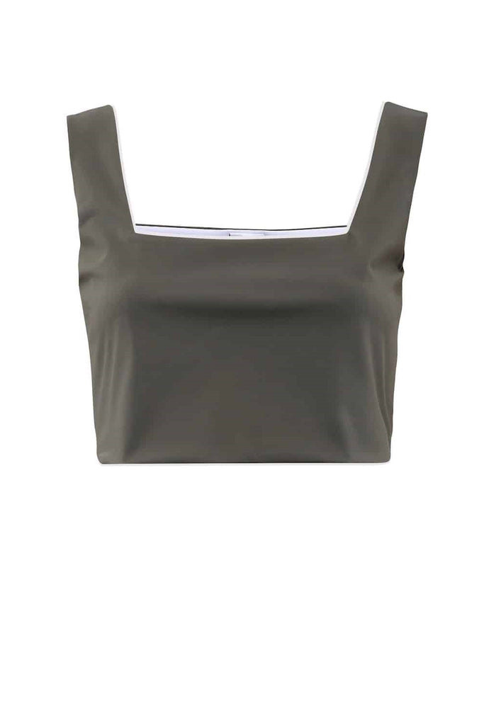 Crop Top Cancun Olive -  - MODE Revolution -Sustainable Fashion
