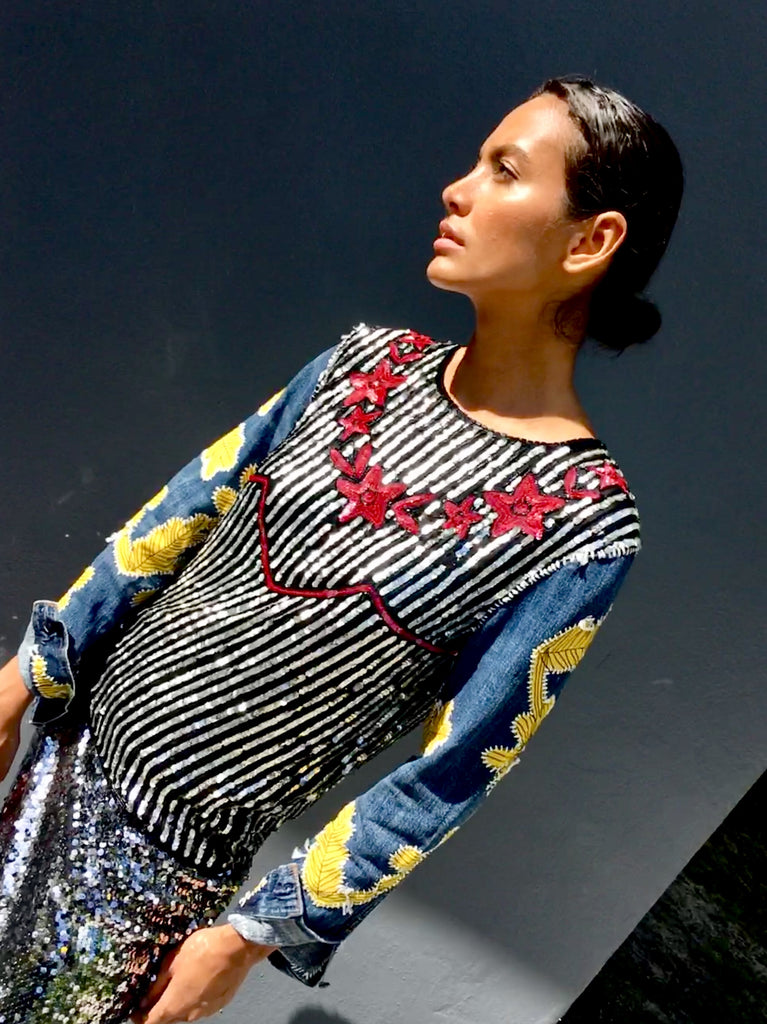 Sunny Embroidered Sequin Top -  - MODE Revolution -Sustainable Fashion