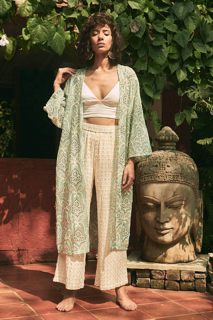 Kashmiri Fields High Waisted Pants - pants - MODE Revolution -Sustainable Fashion