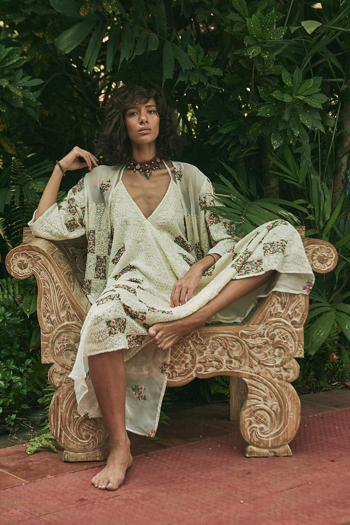 Exotic Blossoms Maxi Dress - dress - MODE Revolution -Sustainable Fashion