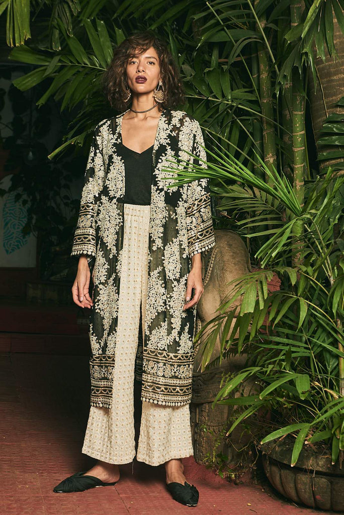 Moonlight Wanderer Long Kimono - Kimono - MODE Revolution -Sustainable Fashion